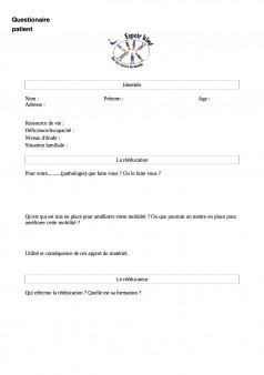 questionnaire patient